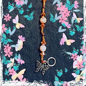 Orange Butterfly Bracelet